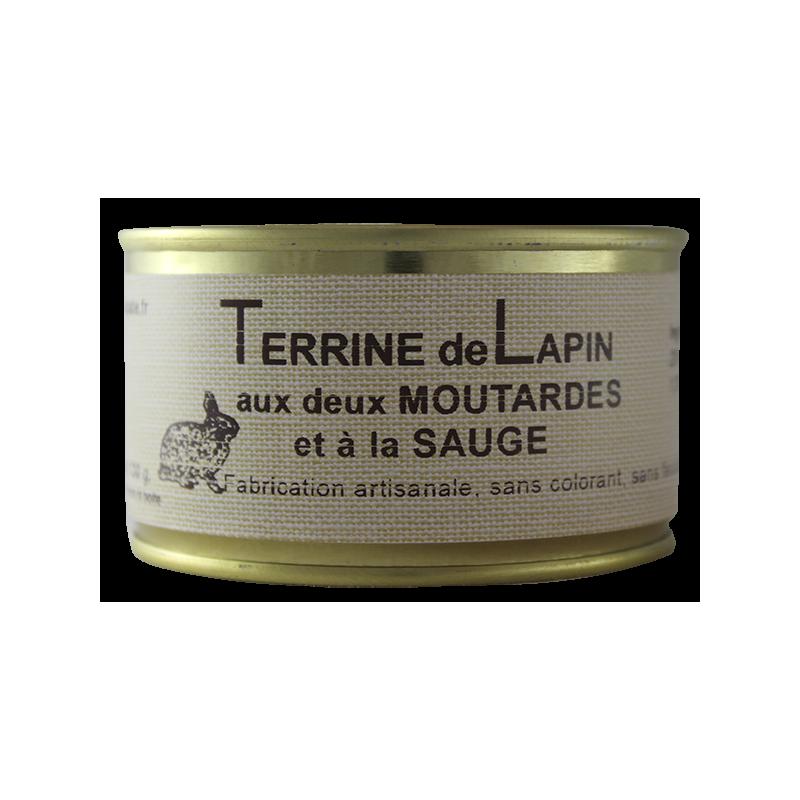 Terrine de Lapin aux 2 moutardes et sauge 130 g