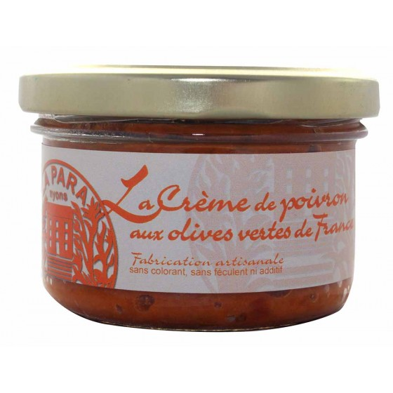 Crèmes de Poivrons aux Olives Vertes de France 90g