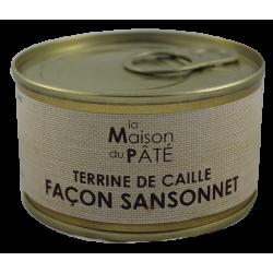 Terrine de Caille Façon Sansonnet