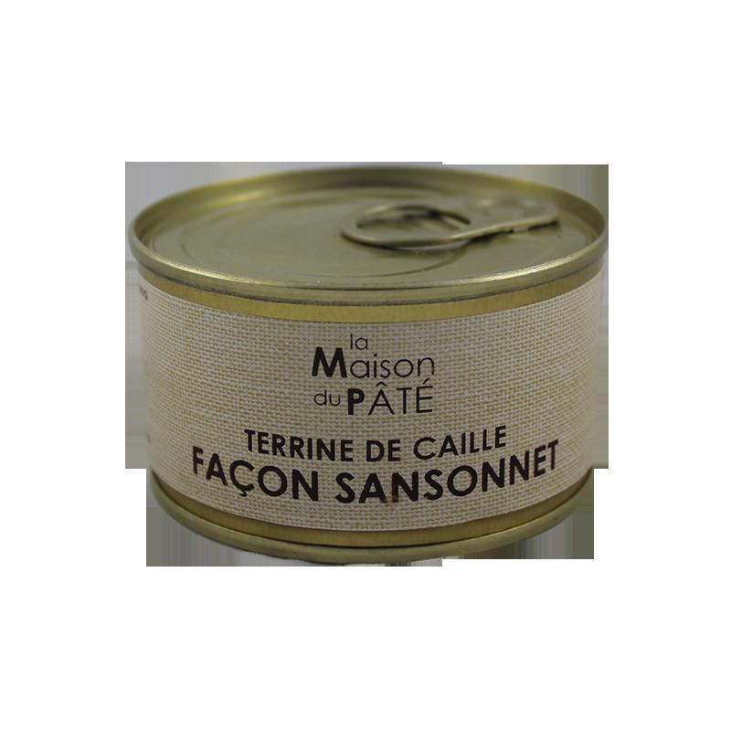 Terrine de Caille Façon Sansonnet 130g